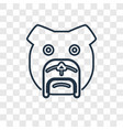bulldog concept linear icon isolated on vector image