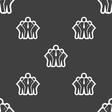 business team icon sign Seamless pattern on a gray vector image vector image