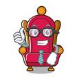 businessman king throne character cartoon vector image