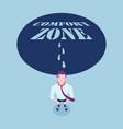 businessmen walking out comfort zone vector image vector image