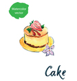 cake flower vector image vector image