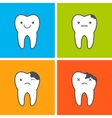 Caries progress vector image vector image