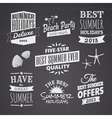 chalkboard style typographic summer designs vector image vector image
