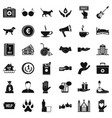 charity work icons set simple style vector image vector image