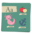 colorful alphabet for kids - letter a vector image