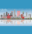 columbus skyline with gray buildings blue sky and vector image vector image
