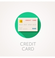 Credit card Icon Flat design style with long vector image vector image