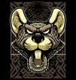 creepy rat mascot vector image vector image