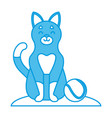 cute cat with tennis ball vector image vector image