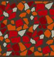 decorative paper cut seamless pattern vector image