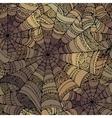 decorative spider web pattern vector image