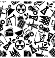 Energy resources black and white seamless pattern vector image vector image