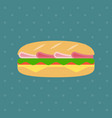 flat sandwich icon vector image vector image