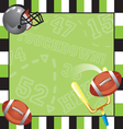 football party invitation card vector image vector image