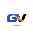 GV company linked letter logo vector image vector image