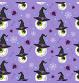 halloween eyeball seamless pattern on purple vector image vector image