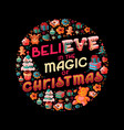 handdrawn christmas quote lettering design vector image