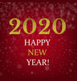 happy new year poster with golden text vector image vector image