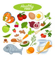 healthy food poster or natural organic vegetables vector image vector image