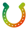 horseshoe luck good icon symbol vector image vector image