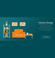 interior design concept banner or background vector image vector image