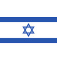 israel flag icon in flat style national sign vector image