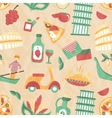 Italy seamless pattern vector image