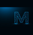 Letter m low poly design alphabet abstract