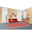 lliving room interior with furniture sofa vector image vector image