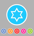 magen david star israel symbol icon flat web sign vector image