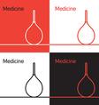 Medicine icon logo concept vector image