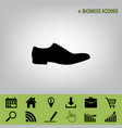 men shoes sign black icon at gray vector image vector image