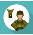 Military soldat design vector image vector image