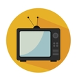 old tv isolated icon design vector image vector image