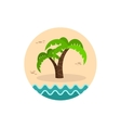 Palm tree icon Summer Vacation vector image vector image