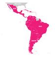 Political map of latin america latin american