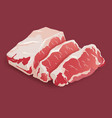 raw fresh meat marble beef steak isolated vector image vector image