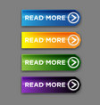 read more web button flat design template vector image