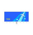 realistic silver airplane and background cut out vector image vector image
