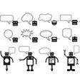 Robots talking vector image