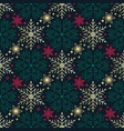 seamless christmas pattern richly decorated vector image