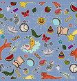 seamless kids pattern with toys vector image