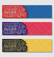 set banners for merry christmas vector image vector image