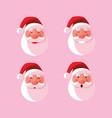 set head of santa claus christmas vector image vector image