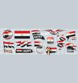 set national flag egypt in vector image