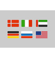 Set of flags stylized flags from geometry Russia vector image vector image