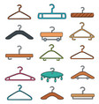 set of hangers vector image
