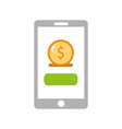 smartphone with banking app vector image