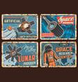 space exploration science rusty metal plates vector image vector image