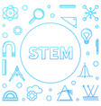 stem blue square frame in vector image vector image